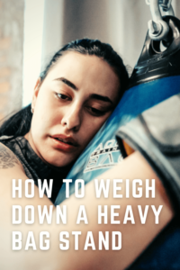How to weigh down a heavy bag stand
